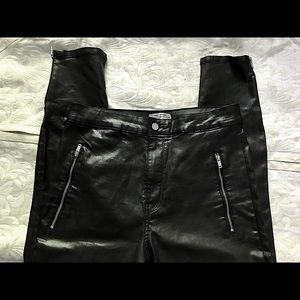 2 for $50 High waisted coated pants NWOT